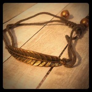 Jewelry - Metal Feather Bracelet